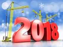 3d rode jaar van 2018 Royalty-vrije Stock Afbeeldingen