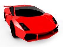 Rode sportwagen op witte achtergrond Royalty-vrije Stock Foto's