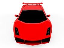 Rode sportwagen op witte achtergrond Stock Afbeeldingen