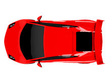 Rode sportwagen op witte achtergrond Royalty-vrije Stock Foto