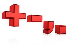 3D Rode Tekens stock illustratie