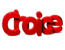 3D Rode Word Keus op witte achtergrond Stock Fotografie