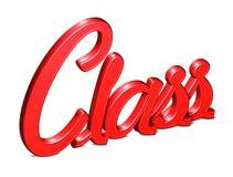 3D Rode Word Klasse op witte achtergrond Royalty-vrije Stock Foto's