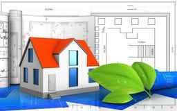 3d rodzajowy dom Obraz Stock