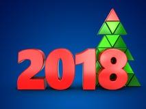 3d 2018 rok znak Obraz Stock