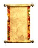 3d rol van oud perkament Stock Afbeelding