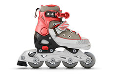 3d Roller skate side view Stock Photography