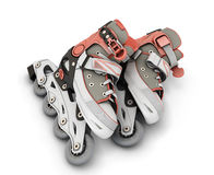 3d roller skates isolated Stock Photography