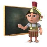 3d Romański żołnierz uczy przy blackboard royalty ilustracja