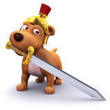 3d Roman dog Royalty Free Stock Photography
