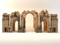 3D Roman Gate Stockbild