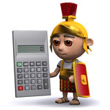 3d Roman soldier calculates Royalty Free Stock Photography