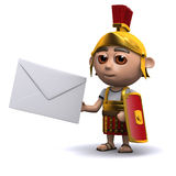 3d Roman soldier with message Royalty Free Stock Photos