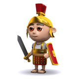 3d Roman soldier is ready Stock Photos