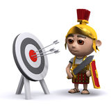 3d Roman soldier studies the target Royalty Free Stock Photos