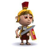 3d Roman soldier sword drawn Royalty Free Stock Image