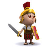 3d Roman soldier waves his sword Royalty Free Stock Photos