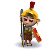 3d Roman soldier writing with a pen Stock Images