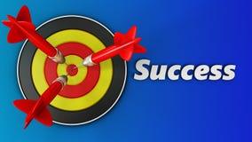 3d rond doel met succes Royalty-vrije Stock Foto's