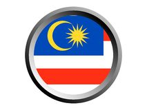 3D Ronde Vlag van Maleisië royalty-vrije illustratie
