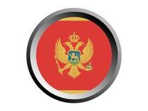 3D Ronde Vlag van Montenegro royalty-vrije illustratie