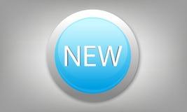 3D ronde wijzer met nieuwe tekst Stock Foto