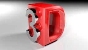3D rood pictogram - het 3D teruggeven Royalty-vrije Stock Foto