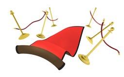3d: Rood Tapijt die door de Lucht vliegen Stock Fotografie