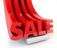 3D rood van de de brievenbevordering van de VERKOOP Stock Afbeelding