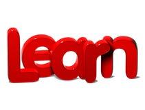 3D Rood Word leert op witte achtergrond Stock Foto's