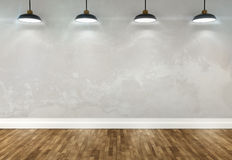 3d room with ceiling lamps Stock Image
