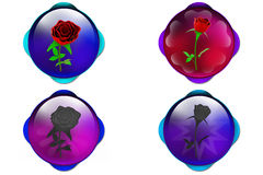 3d rose icon Royalty Free Stock Photo