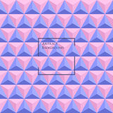3d Rose Quartz and Serenity colored triangle seamless pattern. Made up with triangular shapes. Brochure, poster, design. Wallpapers for your computer, phone Royalty Free Stock Image