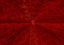 3d rosso l struttura nella prospettiva dinamica immagine stock libera da diritti