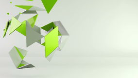 3d rotating polygon transformation stock footage