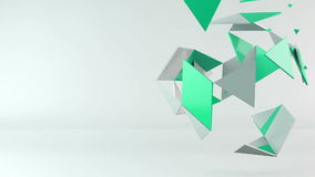 3d rotating polygon transformation stock video footage