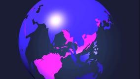 3d roterende aarde Stock Foto's