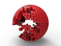 3D rouge - sphère de puzzle illustration libre de droits