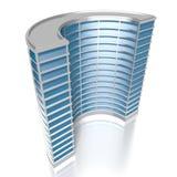 3D round budynek biurowy Obrazy Stock