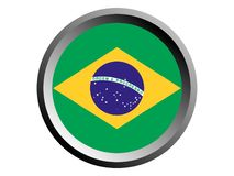 3D Round Flag of Brasil. Vector illustration of the 3D Round Flag of Brasil royalty free illustration