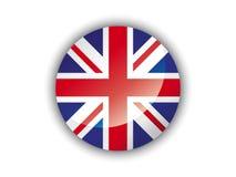 3D Round Flag of United Kingdom vector illustration