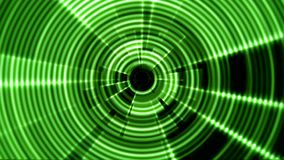 2D Round Tunnel Vortex Portal Green Color with Ripple Effect stock video footage