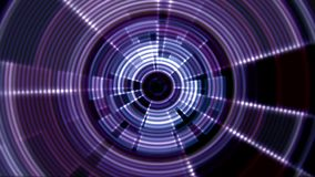 2D Round Tunnel Vortex Portal Purple Violet Color with Ripple Effect stock footage