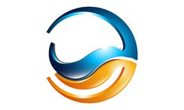 3d rounded  icon such logo. Abstract 3d rounded  icon such logo design element Stock Image