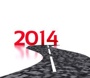 2014 - 3D. Route to the New Year 2014 - 3D Vector Illustration