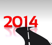 2014 - 3D. Route to the New Year 2014 - 3D Royalty Free Illustration