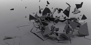 3D Rozbijają Abstrakcjonistycznego Tapetowego tło Fotografia Stock
