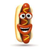 3d Roześmiany hot dog ilustracja wektor