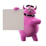3D roze monster stock illustratie