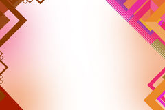 3d roze vierkante geometrische vorm abstracte achtergrond Stock Afbeeldingen